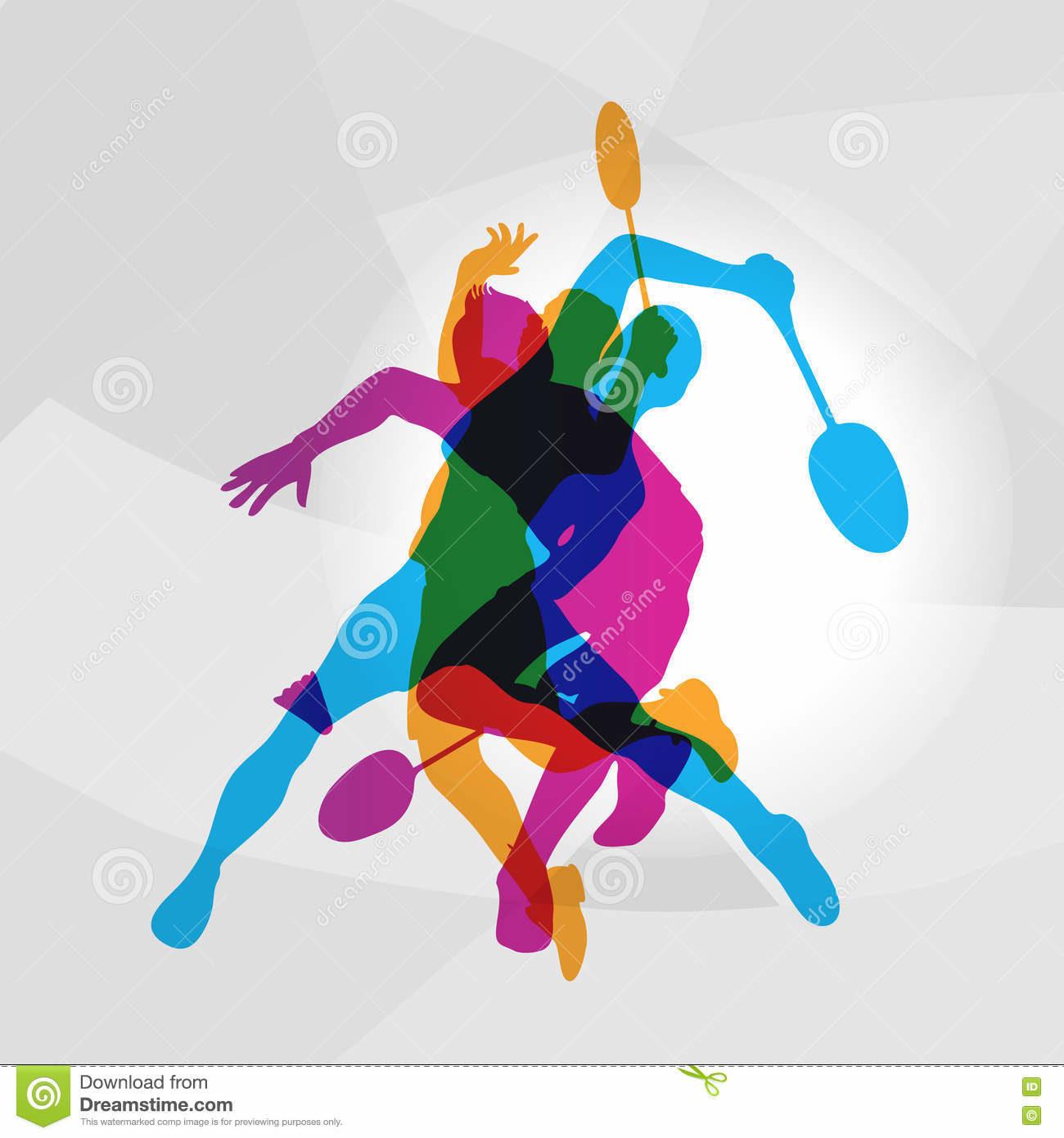 joueurs-modernes-de-badminton-dans-le-logo-d-action-75970372.jpg